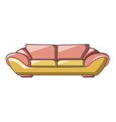 fashion sofa icon cartoon style vector image