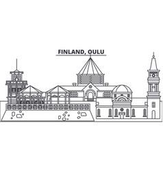 Finland oulu line skyline vector