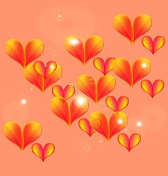 Floating and flying hearts vector