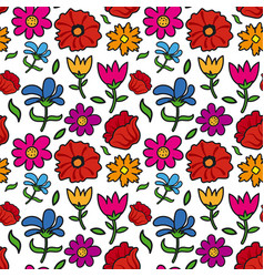 floral seamless patter vector image