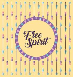 Free spirit cartoon background vector