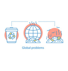 Global problems concept icon vector