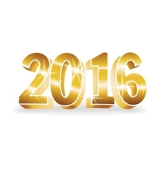 Gold 2016 numbers vector