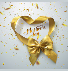 golden bow and ribbons vector image