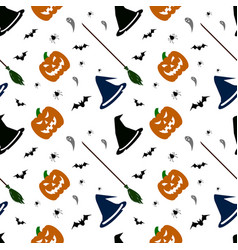 Halloween pattern on white background vector