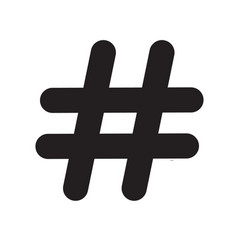 Hashtag icon on white background hashtag sign vector