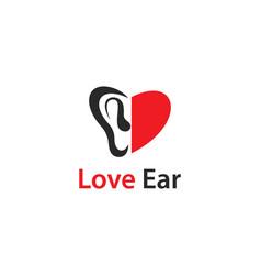 hearing logo vector image