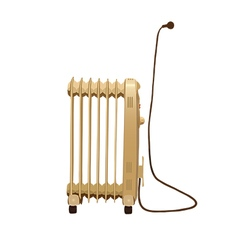 Heater with wire and socket isolated on white vector image