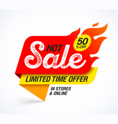 hot sale banner limited time special offer big vector image
