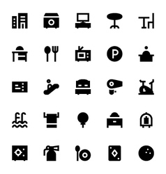 Hotel Services Icons 1 vector image
