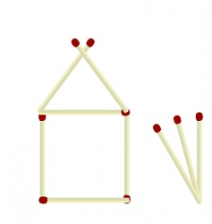 house made matches vector image