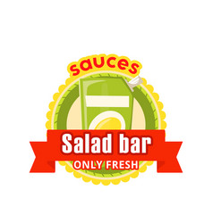 Icon for fast food salad bar cafe bistro vector