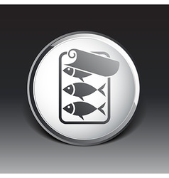 icon for tin fish can with ring pull vector image