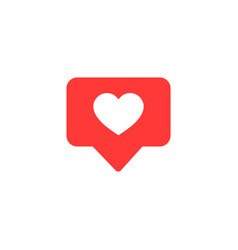 icon likethumbs up social media with heart shape vector image