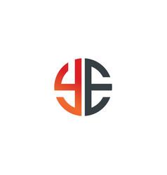 initial letter ye creative design logo vector image