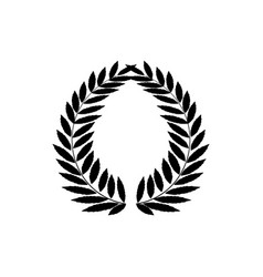 laurel wreath black modern symbol of victory and vector image