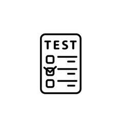 line checkmark icon black vector image