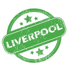Liverpool green stamp vector