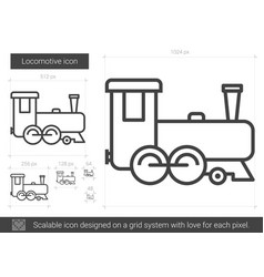 Locomotive line icon vector