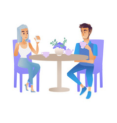 meeting or date of two vector image