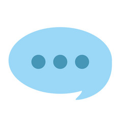 message bubble icon vector image