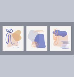minimalistic hand-drawn collage vector image