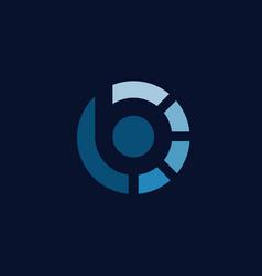 Modern initial letter b logo design vector