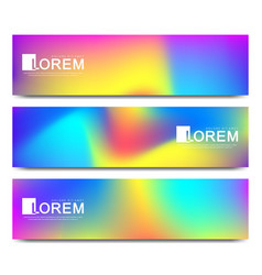 Modern set of banner abstract fluid 3d vector