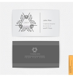 Modern simple business card vector image