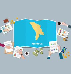 Moldova economy country growth nation team vector