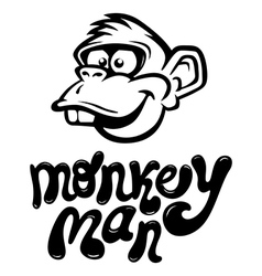 monkeyman vector image