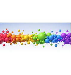 Multicolored flying balls different sizes vector