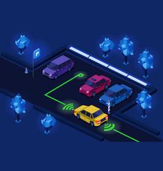 Parking lot isometric 3d vector