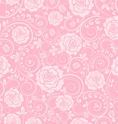 Pink ornament of roses vector image