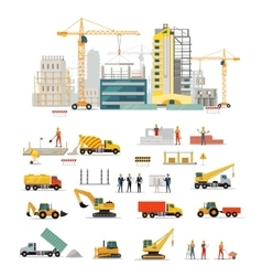 Process Construction of Residential Houses vector image