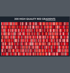 Red chrome gradient setpatterntemplatelove vector