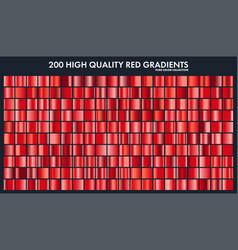 Red chrome gradient setpatterntemplatelove vector