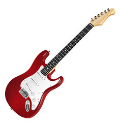 red electric guitar classic vector image