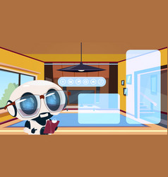 robot housekeeper using technology of smart home vector image