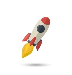 Rocket isolated vector