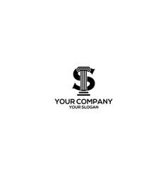 S pillar law firm logo design vector