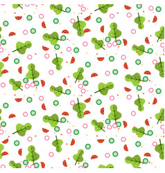 salad seamless pattern vector image