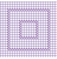 Seamless pattern - lilac checkered tablecloth vector
