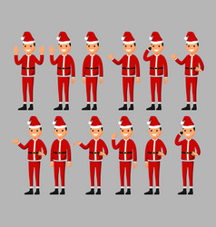 set of a santa claus cartoon character vector image