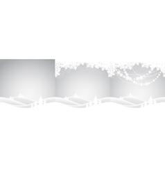 set of christmas landscapes vector image