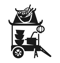 sushi street cart icon simple style vector image