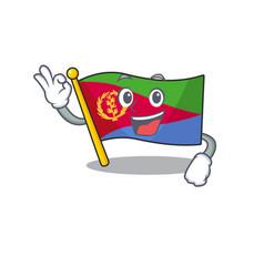 Sweet flag eritrea cartoon character making vector