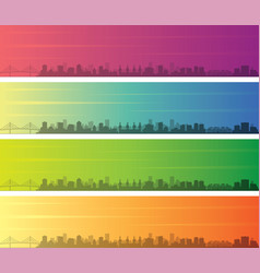 Tampa multiple color gradient skyline banner vector