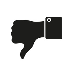 The thumb down icon Against and no symbol Flat vector
