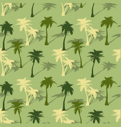tropical palm tree seamless pattern vector image